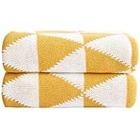 XDFCV Textiles,warmes Innenzubehör Baumwolle Geometrische Strickdecke Baumwolle Decke Sofa Decke Office Freizeit Decke