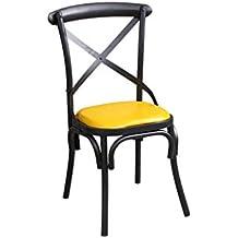 LYLLYL Chaise De Style Industriel Retro En Fer Forge Et Americaine Bar