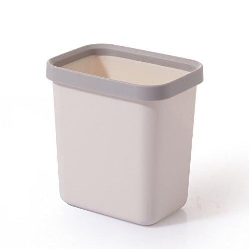 NJCG Desktop Mülleimer, Schreibtisch Kunststoff Mini Square Mülleimer ohne Abdeckung (Farbe : Gray)