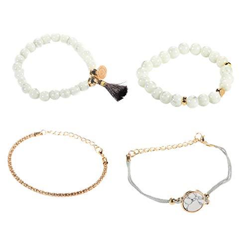 25 Armreif Für Damen Herren Herz der Liebe Marmor Charm Armbänder für Frauen Böhmen Quaste Armband Schmuck ()