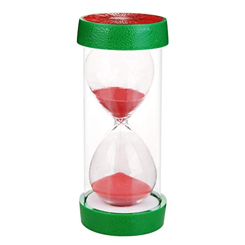 30 Minuten Stundenglas der Wassermelone Muster transparenter Plastikglas Anti-Fallen Sand Timer Obst Home Decor Clock Crafts 6 * 12.8cm -