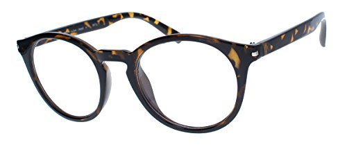 amashades Vintage Nerdies Classic Nerdbrille: große, fast runde Pantobrille filigrane Streberbrille...