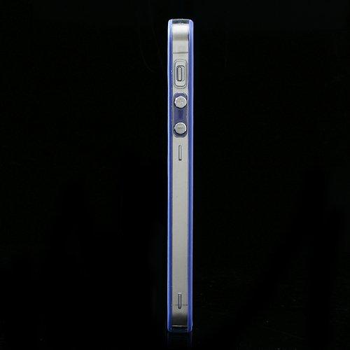 XAiOX-iPhone 5S 5Bumper Coque en Transparent-Choix de Couleurs