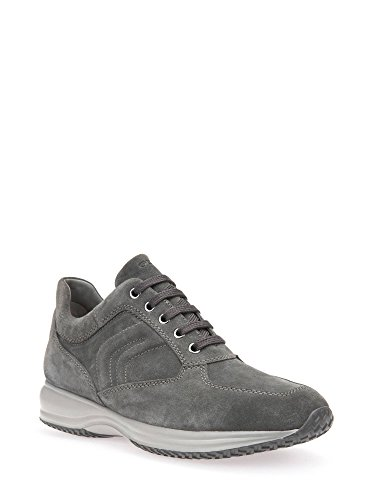 Geox Herren U Happy Art H Sneaker Grau (Anthracite)
