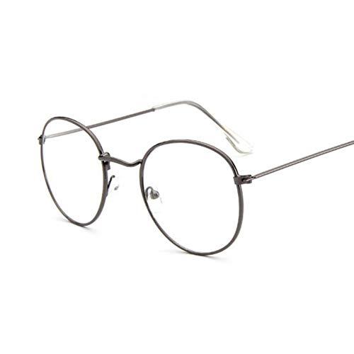 YSFU Sonnenbrillen Damenbrillengestell Herrenbrillengestell Runde Transparente Sonnenbrille Mit...