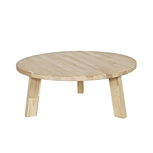 Eiche Traditionellen Sofa-tisch (Couchtisch aus Eiche Massivholz Rund Pharao24)