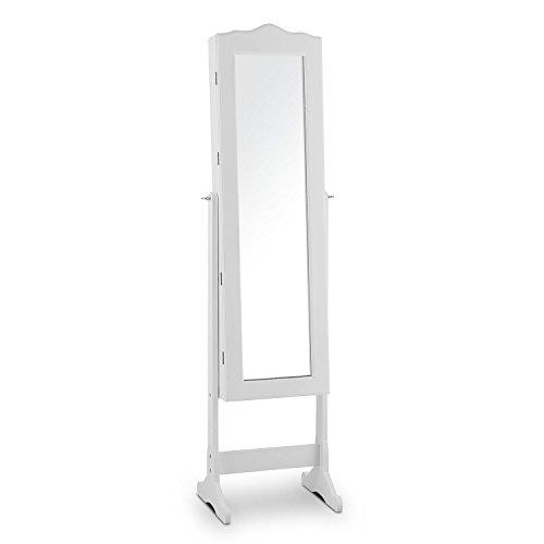 oneConcept-Joyero-Espejo-iluminacin-LED-Mueble-giratorio-de-100-compartimentos-accesorios-anillos-cadenas-pendientes-pulseras-llave-cierre-seguridad-ideal-tocador-dormitorio-vestidor-armario-blanco