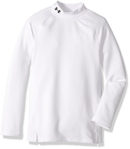 Under Armour Mädchen ColdGear Mock Langarmshirt, White/Black (100), YSM -