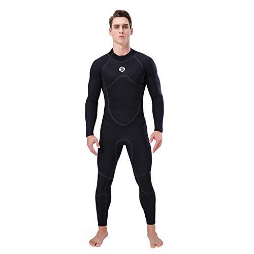 LOPILY Herren Sommer Surfbekleidung Wakeboarding Wetsuit 3MM Ganzkörperanzug Wassersport Anzug Neoprenanzug Schwimmanzug Surfanzug Schnelltrocknend Sonnencreme(Schwarz,S)