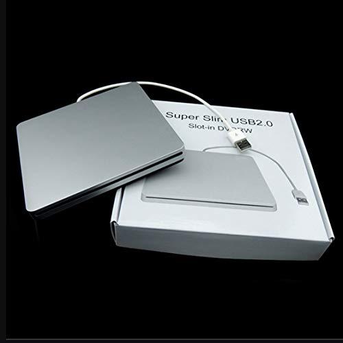 Preisvergleich Produktbild LouiseEvel215 Laptop Type Suction Super Slim USB 2.0-Steckplatz für externen DVD-Brenner Externe Laufwerke Box Enclosure Case