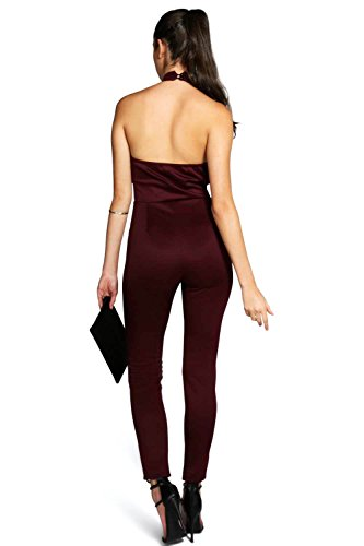 Baie Hollie High Neck Deep Plunge Jumpsuit Baie