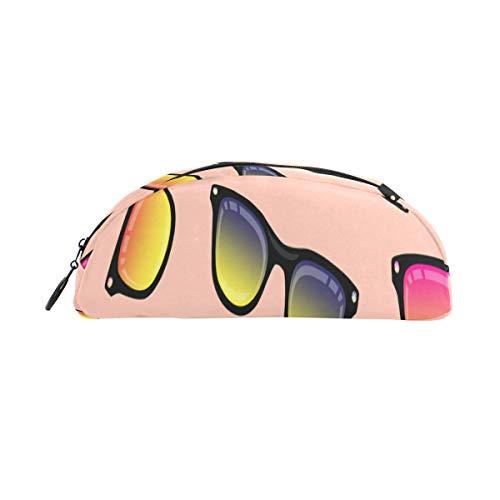 Kleine bleistiftbeutel cool fashion sonnenbrille federbeutel veranstalter federmäppchen tasche reißverschluss für studenten klasse kinder junge mädchen schule mini federmäppchen