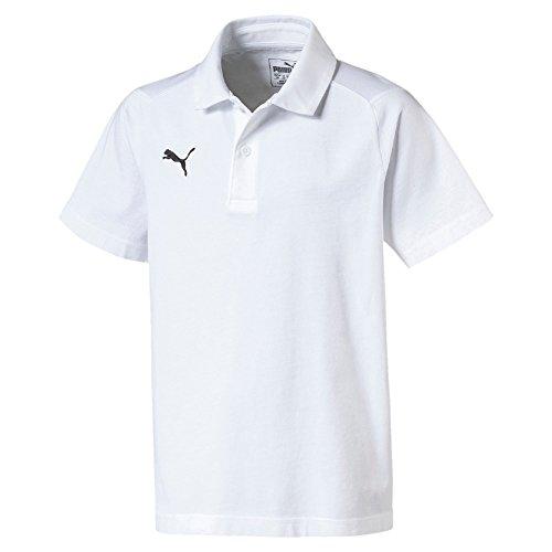 Puma Kinder Liga Casuals Polo Jr T-Shirt, White Black, 128
