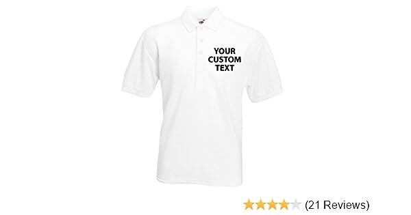822ebce10 Custom White Personalised Polo Shirt, Custom Polo Shirt 2XL: Amazon.co.uk:  Clothing