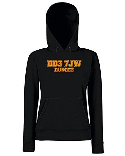 T-Shirtshock - Sweats a capuche Femme WC1148 dundee-postcode-tshirt design Noir