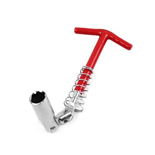 T-handle Tipo candela chiave a tubo di 360 gradi gira Auto di riparazione Utensili manuali universale Socket di rimozione della chiave di installazione