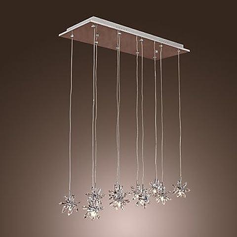 EIK REDLANDS - Lampadario motivo floreale in cristallo con 10 lampadine , 220-240V