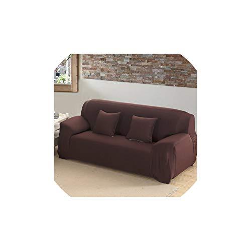 Black-Sky 21 Farben für die Auswahl Volltonfarbe Sofaabdeckung Stretch Sitzcouch deckt Couch alle Kett- Handtuch slipcovers Bedecken, Schokolade, AB 145-185cm (Liege Gedruckt Deckt)