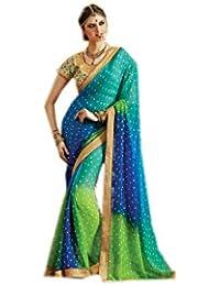 Mantra Georgette Saree (Mant04_Multi-Coloured)