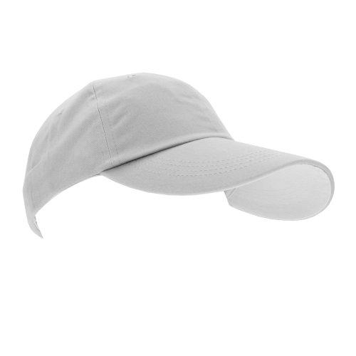 Anvil - Casquette de baseball à contraste - Unisexe (Taille unique) (Blanc)