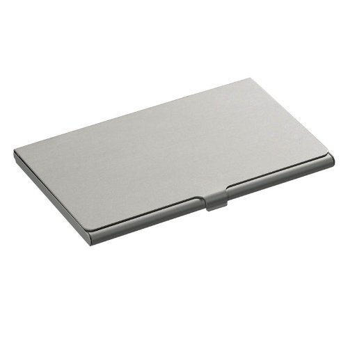 Brushed Metal Aluminium Executive Business Card Holder Credit Coins Slim Snap Shut Pocket Wallet ID Gift By AoE Performance (Wallet Kleine Snap)