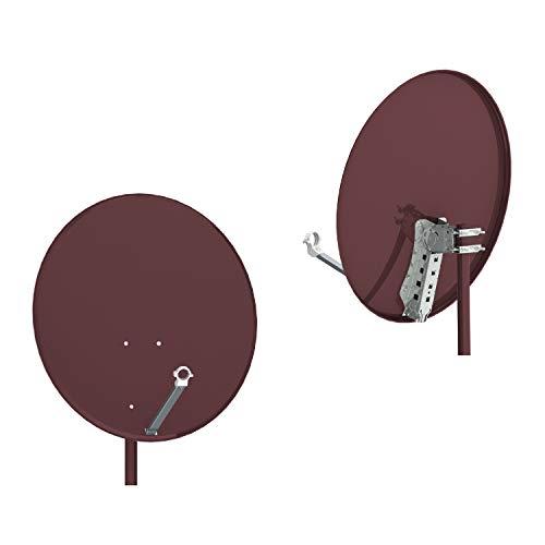 Oferta de RED OPTICUM de Control de Calidad de Acero Antena de satélite 80, Color: Rojo ladrillo -