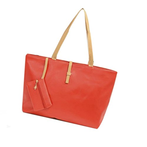 Damen tasche sale, Frashing Umhängetasche Tote Handtasche Messenger Hobo Crossbody Bag Shopper Handbag Shoulder Bag for School Travel Work Shopping Women' (rot)