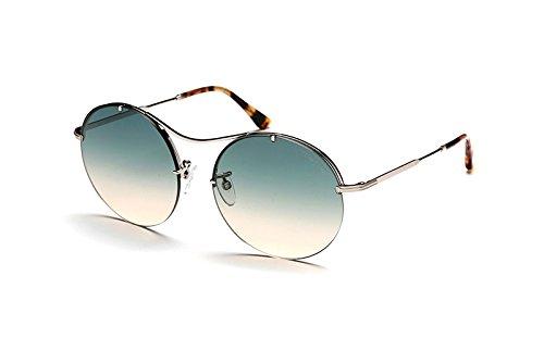 Tom Ford Unisex-Erwachsene FT0565 18P 58 Sonnenbrille, Grau (Rodio Lucido/Verde Grad),