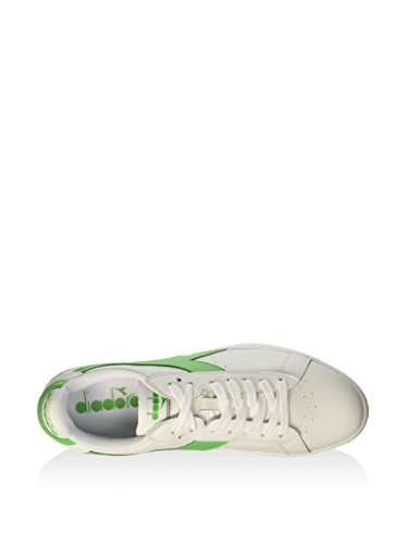 Diadora - C6104, Game L Low Waxed Unisex – Adulto BIANCO/VERDE IRLANDESE