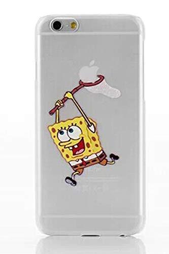 All4touch cover spongebob squarepants compatibile con iphone 6 6s plus s silicone tpu case trasparente (iphone 6, spongebob)