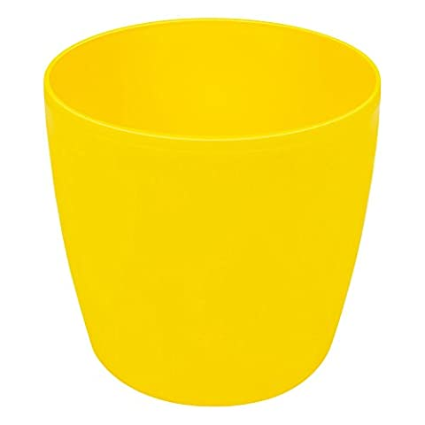 4,5 L Blumentopf Blumenkübel gelb rund Kunststoff 200x184 mm Topf