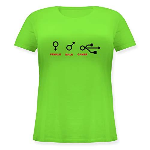 Nerds & Geeks - Female, Male, Gamer - L (48) - Hellgrün - JHK601 - Lockeres Damen-Shirt in großen Größen mit Rundhalsausschnitt