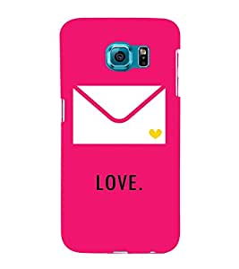 Love message in Envelope 3D Hard Polycarbonate Designer Back Case Cover for Samsung Galaxy S6 :: Samsung Galaxy S6 G920