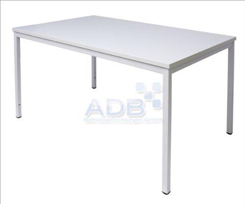 ADB Konferenztisch/Universaltisch/Schreibtisch 120x80x76 cm - Lichtgrau