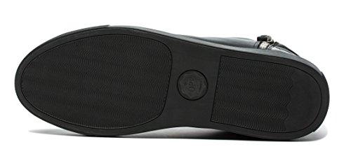 OPP Hommes Mode Chaussures de Travail Side Zip Sneaker Hautes Noir-1