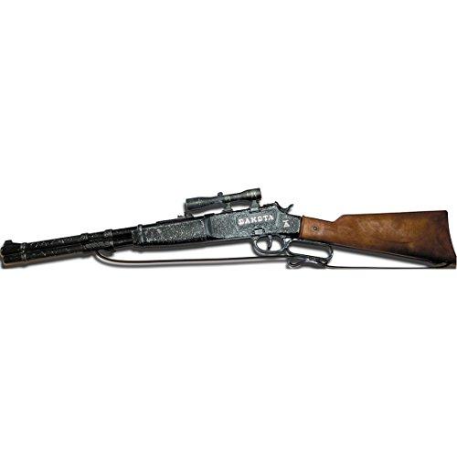 NET TOYS Fusil Dakota 100 Coups 640 mm Noir-Marron Carabine Cowboy Arme Western pétard shérif Fusil Jouet Texas