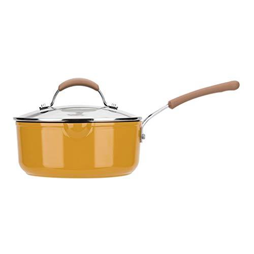 SSG Home Milk Pot Family Kitchen Cooking Multifunktions Dicker Edelstahl Milchkanne Leicht kleinen Topf Bratpfanne Werkzeug zu halten Stiel (Color : 2.5L)