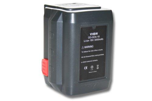 vhbw Li-Ion Akku 3000mAh (18V) für Werkzeuge Gardena Allround Bläser Accujet 18-Li wie 8835-U, 8835-20, 8839, 8839-20.