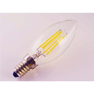 ZLL 5pcs e14 4w luz 400lm llevó la lámpara de filamento (85-265V) , warm white