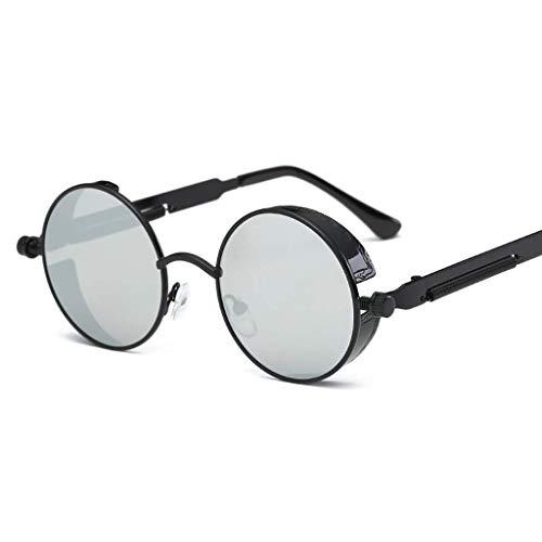 YHEGV Europa und die Vereinigten Staaten Trend Sonnenbrillen Sonnenbrillen Metall runden Rahmen Retro Männer und Frauen Sonnenbrillen