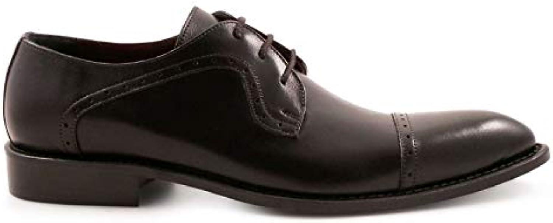 LEONARDO scarpe Stringate Uomo 32831TAMPNERO Pelle Nero   Ottima selezione    Maschio/Ragazze Scarpa