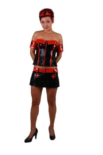 schwester Nurse Mini Rock Top Karneval Fasching Fastnacht Halloween 34 - 36, Kleidergr. Damen:S 34-36 (Krank Halloween-outfits)