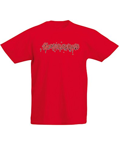 Bloody Spell, Kind-druckten T-Shirt - Rote/Transfer 12-13 Jahre