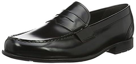 Rockport Classic Loafer Lite Penny, Herren Mokkasins, Schwarz Black Brush Off, 44 (9.5 UK)