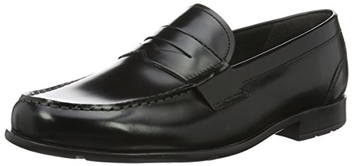 Rockport Classic Loafer Penny, Mocassini uomo, Black Brush Off, 43