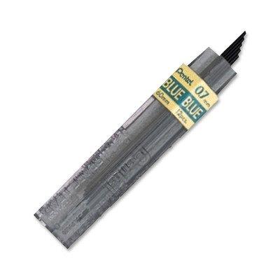 Pentel 0.7mm Coloured Pencil Leads - Blue (Tube of 12 Leads)