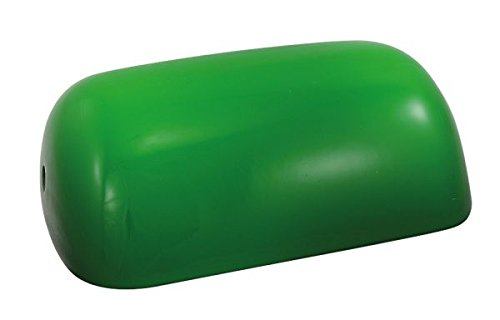 Schirm für Bankerslampe, grün, Glasschirm- 22.5x 13x 7 cm