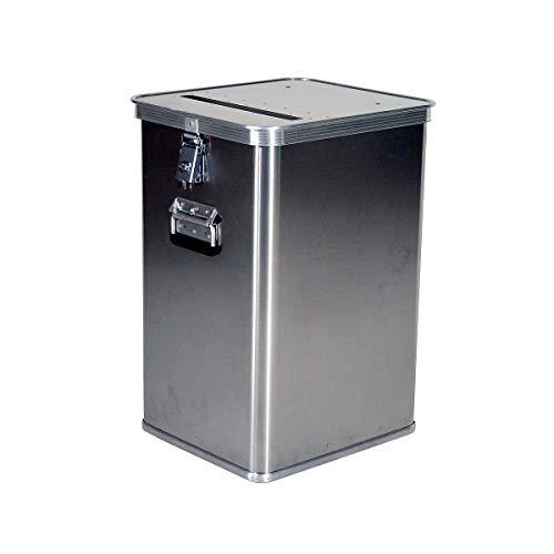 Gmöhling Alu-Datenentsorgungsbehälter - Außen-LxBxH 435 x 385 x 650 mm, mit Einwurfschlitz - Alu-Behälter Datenentsorgungsbehälter