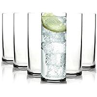Tivoli New York Vasos de Long drink/260 ML/Conjunto de 6/Gafas de Alta Calidad/Lavavajillas/Vasos de Cristal