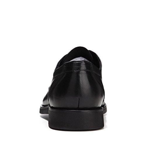 HHY-In autunno e in inverno abiti business punta in pelle dello strato scarpe da uomo. black